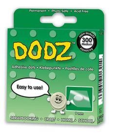 3L EZ Dodz Clear Adhesive Dots - Medium (Pack of 300 Dodz)