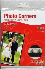 3L Photo Corners - Classic Style Gold (Pack of 108 Corners)
