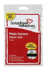 3L Photo Corners - Classic Style Silver (Pack of 108 Corners)