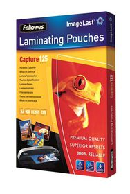 Fellowes Capture125 A4 125micron Gloss Laminating Pouches (100 Pack)