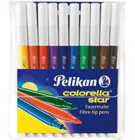 Pelikan Colorella Star Fibre Tip Pens (Wallet of 10)