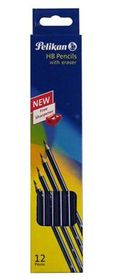 Pelikan HB Pencils With Eraser Tip (12 Pieces)