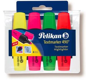 Pelikan Textmarker 490 Fluorescent (Wallet of 4)