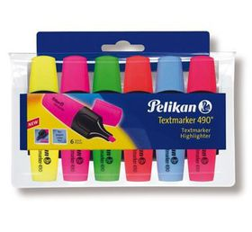 Pelikan Textmarker 490 Fluorescent Highlighters (Wallet of 6)