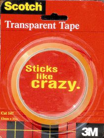 3M Scotch Tape 147 - Transparent (12mm x 33m)