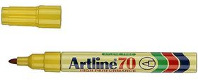 Artline EK70 Permanent Marker Bullet - Yellow (Single)