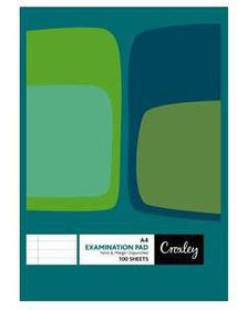 Croxley JD571 F&M 100 Sheet Unpunched & Ruled Examination Pad (Pack of 10)