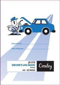 Croxley JD273 32 Page Driver's Log Book (Pack of 20)