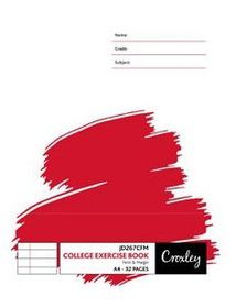 Croxley JD267 32 Page A4 F&M Exercise Book (20 Pack)
