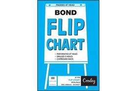 Croxley JD590 White Bond Perforated & Punched Flip Chart Paper (50 Sheets)