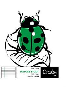 Croxley JD432 I&M 72 Page Nature Study A4 Softcover Book (Pack of 10)