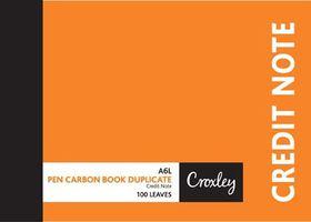 Croxley JD16CN A6L Credit Note Pen Carbon Book Duplicate