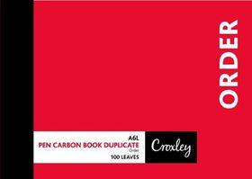 Croxley JD16PS A6L Order Pen Carbon Book Duplicate