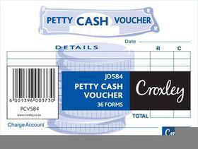 Croxley 36 Forms Petty Cash Vouchers - JD584