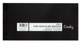 Croxley Time, Wage And Pay Register - JD601