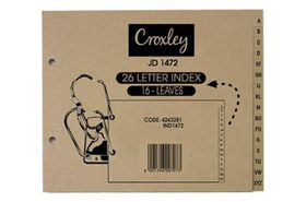 Croxley JD1472 Archlever Dividers A - Z  (16 Leaves)