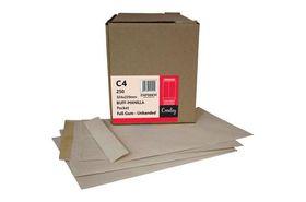 Croxley C4 Brown Gummed Unbanded (Kingstone) Envelopes (Box of 250)