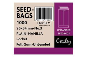 Croxley No.3 Seed and Wage Pockets - Brown (Kingstone) 95x54mm (Box of 1000)