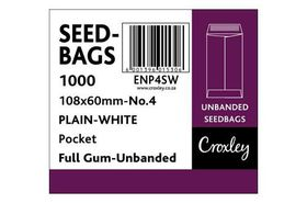 Croxley No.4 Seed and Wage Pockets - White (Summit) 108x60mm (Box of 1000)