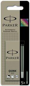 Parker Quink Fountain Pen Refill Cartridges - Black Ink (5s)