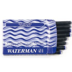 Waterman Standard Fountain Pen Refill Cartridges - Blue Ink (8's)