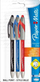 Paper Mate Flexgrip Elite Ballpoint Pens Large Nib (Carded 3's)