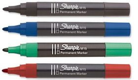 Sharpie M15 Bullet Permanent Marker - Assorted (Carded 4's)