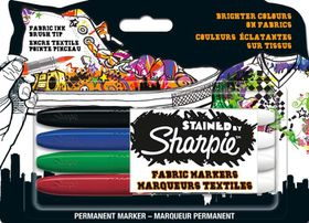 Sharpie Stained Fabric Marker - Assorted (Carded 4's)