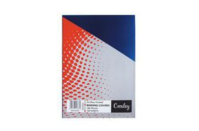 Croxley Frosted A4 Binding Covers - Blue (100 Pack)