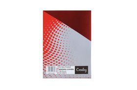 Croxley Frosted A4 Binding Covers - Red (100 Pack)