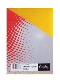 Croxley Frosted A4 Binding Covers - Yellow (100 Pack)
