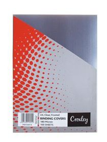 Croxley Frosted A4 Binding Covers - Clear (100 Pack)
