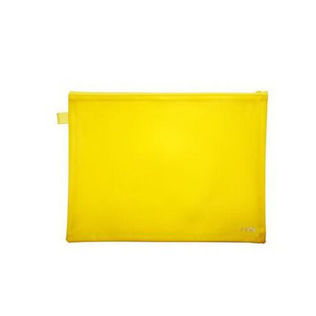 Croxley Bright PVC Neon Book Bags Yellow - Each