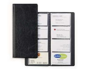 Durable Business Card Holder - Black (96 Card Capacity)
