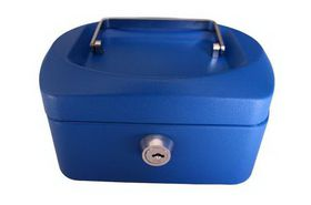 Croxley 6 Inch Cash Box - Blue
