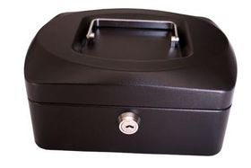 Croxley 8 Inch Cash Box - Black