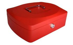 Croxley 10 Inch Cash Box - Red