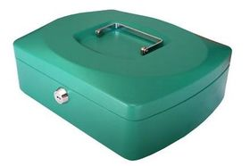Croxley 12 Inch Cash Box - Green