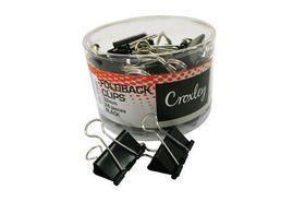 Croxley Foldback Clips - 32mm (Tub of 24)