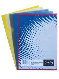 Croxley Secretarial Document Wallet - Assorted (Pack of 12)