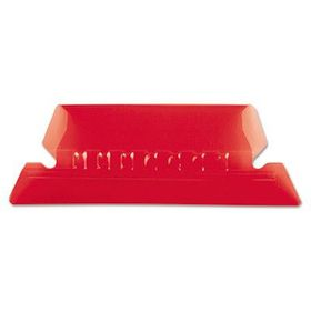 Pendaflex Insertable 50mm Plastic Tabs - Red (Pack of 25)