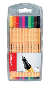 Stabilo Point 88 Fineliner - Wallet of 10