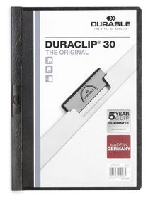 Durable Duraclip 30 Page A4 Folder - Black