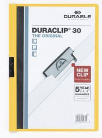 Durable Duraclip 30 Page A4 Folder - Yellow