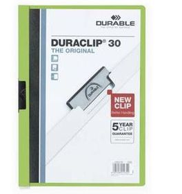 Durable Duraclip 30 Page A4 Folder - Green