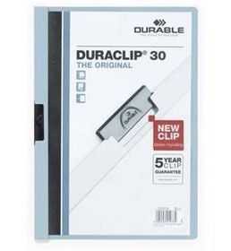 Durable Duraclip 30 Page Folder - Blue