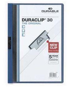 Durable Duraclip 30 Page Folder - Navy