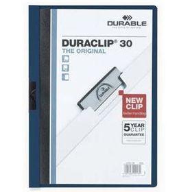 Durable Duraclip 30 Page Folder - Midnight Blue