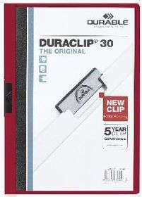 Durable Duraclip 30 Page Folder - Burgundy