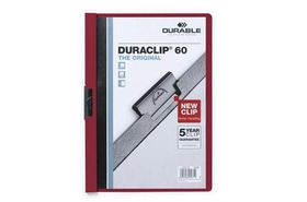 Durable Duraclip 60 Page Folder - Burgandy